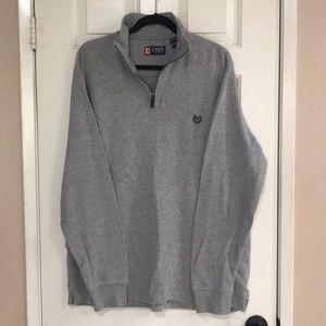 NWOT- Chaps 3/4 zip sweater